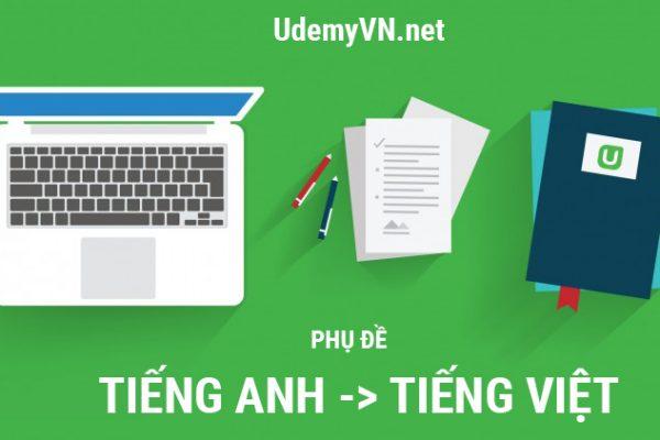 Thay đổi phụ đề từ Tiếng Anh sang Tiếng Việt trên Udemy.